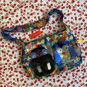 NWT OILILY Walrus Penguin Diaper Baby Bag
